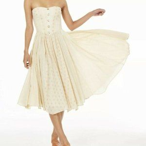 Free People Womens Amanda Ivory Polka Dt